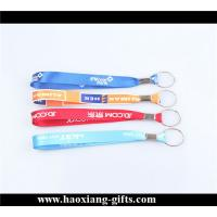 China OEM cheap custom any color polyester material keychain wrist straps wholesale