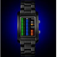 China Fashion 4 color LED Display Men Wrist Watch Waterproof 50m with date and week sport watch 1103 wholesale