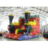 Quality Outside Bounce Large Inflatable Slides Red Tarpaulin For Musement Park for sale