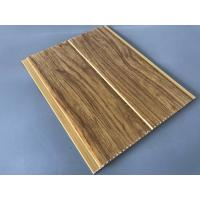 China 5mm Thickness Ceiling PVC Panels For Kitchen Two Golden Line Wooden Color wholesale