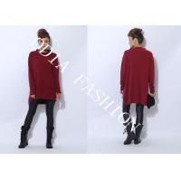 China Red Cable Knit Womens Turtleneck Sweaters Pullover Style in Long Sleeve 2014 for Ladies wholesale