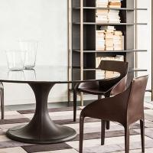 Quality Custom Leather Cover Brizia Chair / Trussardi Casa Bedroom Furniture for sale