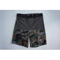 China Cool Stretch Camo Design Mens Swim Trunks With 4 Way Stretch Fabric on sale