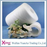 China 40/2 42/2 45/2 RW 100% polyester spun yarns , glazed sewing machine thread AAA quality on sale