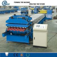 High Speed Metal Steel Step Roof Tile Roll Forming Machine For Wall Panels