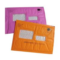 China Pink Kraft Shipping Envelopes , Kraft Padded Mailers Window Ideal For Address Label wholesale