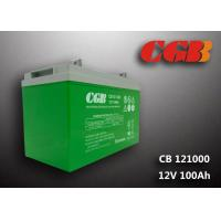 China CB121000 12v sla battery 100AH , Green slim deep cycle battery Plastic wholesale