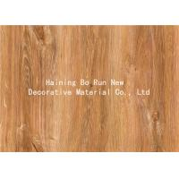 China MDF Skirting Board Cover Wood Grain Film Brown Color 500 Meters / Roll wholesale