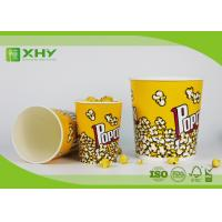 China Food Grade Paper Popcorn Buckets With Paper Lid , Top180mm 85oz Paper Cups wholesale