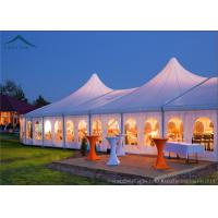 China Customized Size White PVC Tent Fabric Mixed  Marquee Party Tents For Outdoor Commercial Activity wholesale