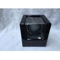 China Black Wood Gents Watch Storage Box With Velvet Pillow Insert , Logo Custom on sale