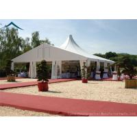 China White Mixed Wedding Reception Tents 10m* 30m Aluminum Tents For Exhibition wholesale