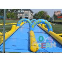 China Blue And Yellow Inflatable Water Slide Inflatable Backyard Water Slide wholesale
