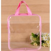 Buy cheap Heat Seal Transparent PVC Swim Bag , Cosmetic Piping Plastic Zipper Pouch With from wholesalers