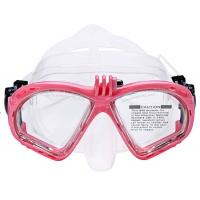 China Adult Durable Scuba Tempered Glass Diving Masks With Clear Lens Multi Colors wholesale
