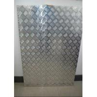 China 1220mm*2440mm Embossed Aluminum Sheet 5 Bars for Bus , Boat , Trailer wholesale