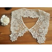 China Cotton Bridal Neckline Lace Collar Applique , Floral Embroidery Lace Collar wholesale
