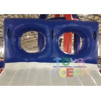 Quality Blue / White Inflatable Sports Game 0.9mm PVC Tarpaulin Water Slide Game For for sale