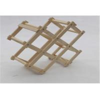 China Eco - Friendly Wooden Wine Storage Rack Shelf Foldable Small Storage Shelves Racks wholesale