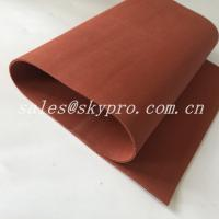 China Red / Transparent Soft Flexible Silicone Rubber Foam Sheet Thickness 0.1-30mm wholesale