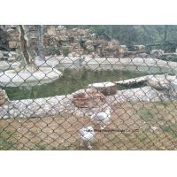 Buy cheap PVC Coated Wire Netting Fence / Green Wire Fencing Chain Link For Zoo Protection from wholesalers