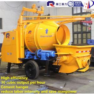 China Good price concrete mixer pump trailer hydraulic portable concrete mixing equipment cement concrete pump wholesale