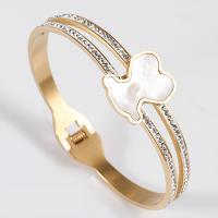 China Nickel / Lead Free Stainless Steel Jewellry Women Crystal Bangle Bracelet on sale