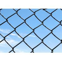 China Hot Dipped Galvanized Steel Chain Link Wire Mesh 6 Foot in Blue / Green Color wholesale
