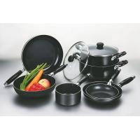 China Black 9pcs Nonstick Coating Cookware Set With Silicon Handle wholesale