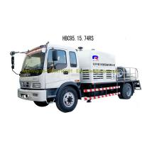 China Truck Mounted Concrete Pumping Equipment , Air Cooling Large Concrete Pump wholesale