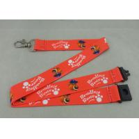 Wholesale Heat Transfer Promotional Lanyards Shot Straps Red Printed Lanyards from china suppliers