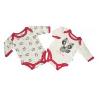 China Red White Color Long Sleeve Bodysuit Baby Girl Infant Onesies With Envelope Neck wholesale
