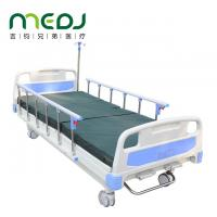 China Two Rocker Manual Hospital Bed ABS Bedside Multifunctional Nursing Bed wholesale