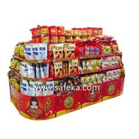 China Walmart Corrugated Retail Floor Displays,Supermarket Happy New Year Gift Sets Displays wholesale