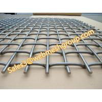 China Flat top crimped wire mesh wholesale