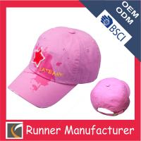 China Classic Design Six Panel Print Cotton Baseball Cap wholesale