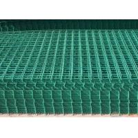 China PVC Coated Wire Mesh Fence Panels For Highway / Construction Green Color wholesale