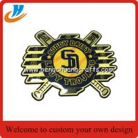 China Offset process baseball badges,fast production baseball metal lapel pin on sale