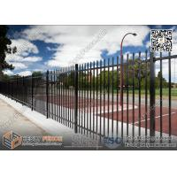 China 1800X2400mm Garrison Metal Tubular Fence for sale   China Steel Picket Fence wholesale