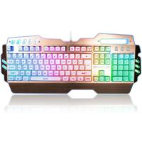 China Custom LED PC Gaming Keyboard Alumium Alloy Plate With ABS Plastic Base wholesale