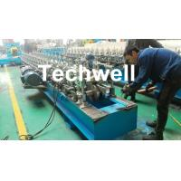 China Hat Channel Cold Roll Forming Machine With Hydraulic Cutting Type & PLC Frequency Control wholesale