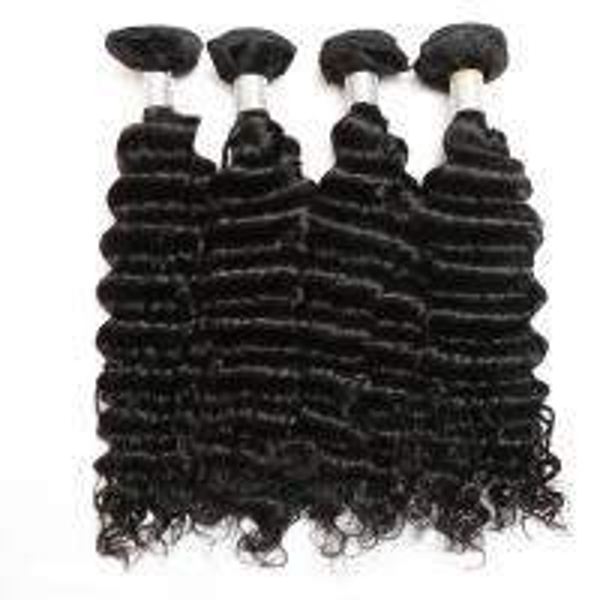 Quality Virgin Peruvian Deep Wave Human Hair / Peruvian Hair Body Wave Bundles for sale