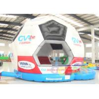 China 6.5 x 5.2 x 5.1m Black And White Inflatable Bounce House For Soccer Bouncer Castle wholesale