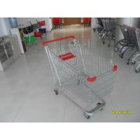 China Unfolding Steel Chrome Grocery Shopping Cart With Four Escalator Wheel wholesale