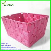 China Dyed Pink nylon material woven box wholesale
