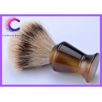 China Men's shaving brushes with horn handle silver tip badger hair deluxe gift for male wholesale