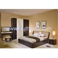 China Simple MDF Structure Rustic Wood Frame Bed For Mens 1700 * 2180 * 870MM Size wholesale