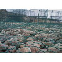 China Pvc Coated Gabion Baskets , Rock Filled Gabion Cages For Seaport Engineering wholesale