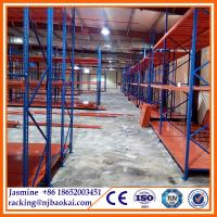 China Medium duty Powder Coated stackable warehouse storage steel racks wholesale