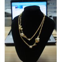 China Elegant designs and excellent finishing mixed metal necklaces with rhinstones, pearls wholesale